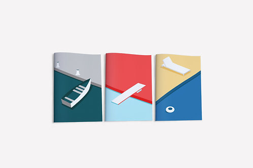 Summer Collection, Water Notebook Set