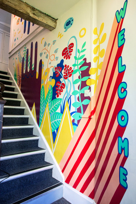Hallway Welcome Mural