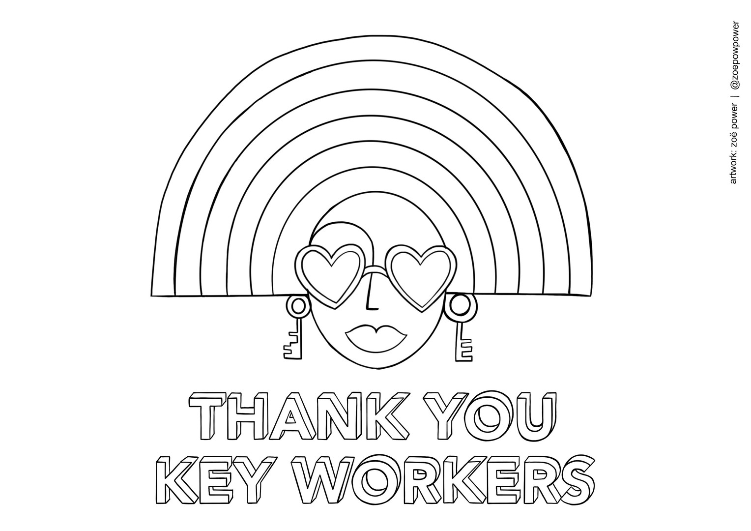 Colouring In sheet -  THANK YOU KEY WORKERS