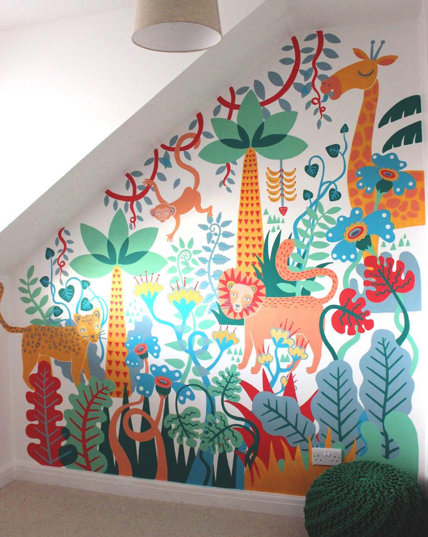 Jungle Bedroom Mural