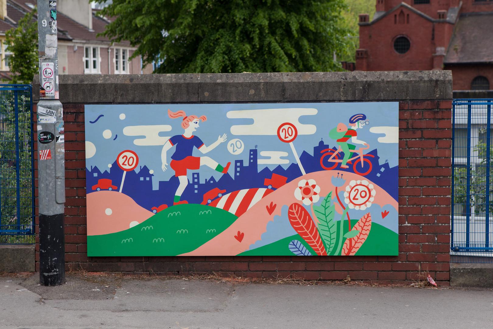 20mph School Mural