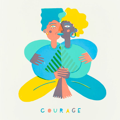 Limited Edition 'Courage' Screenprint
