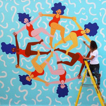 Portishead Lido Mural