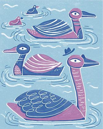 Ducks Digital Print