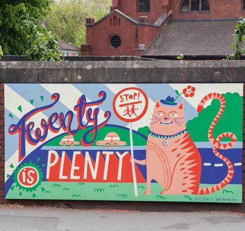 20 is Plenty School Mural