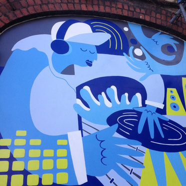 BOP Music Shop Mural