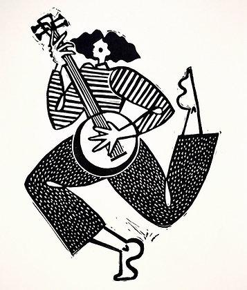 'Lockdown Blues' Linocut Print