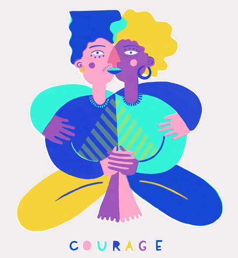 Courage Screen Print & Illustration