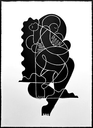 Limited Edition 'Embrace 3' Linocut