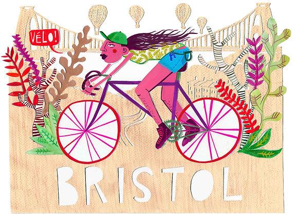 Bristol Cyclist Print