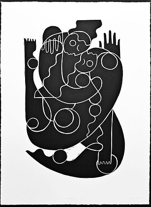 Limited Edition 'Embrace 2' Linocut
