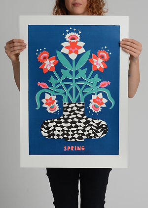 Limited Edition 'Spring' Screenprint