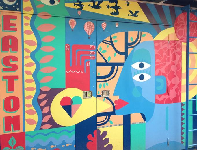 Community energy mural.