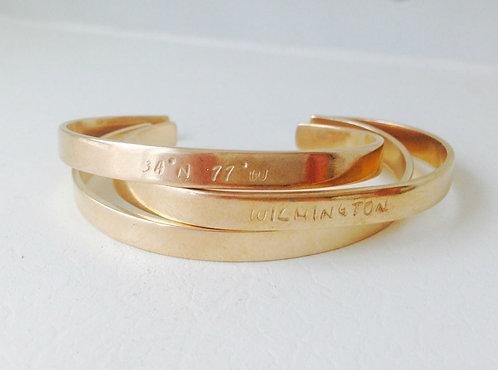 Brass Custom Cuff Bracelet