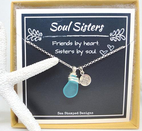 """Soul Sisters"" Friendship Necklace"