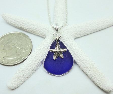 Small Starfish Charm on Pear Shaped Pendant