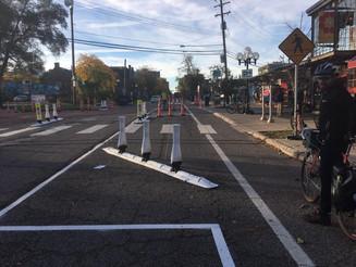 City Of Ann Arbor Testing Protected Bike Lane