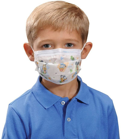 3 Ply Disposable Children's Class 3 Face Masks, FDA Approved (Case of 2,500)