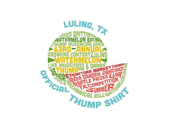 watermelon thmp, thump contest, luling, texas, dahlgren design, t shrt design