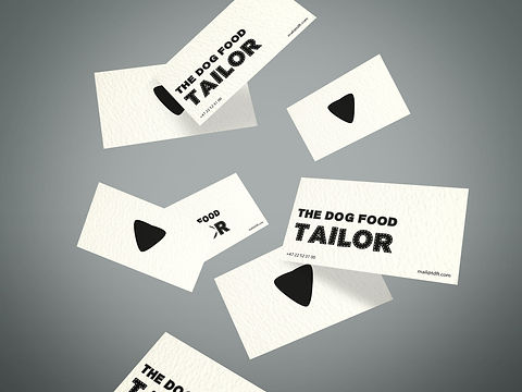 The Dog Food Tailor Business Cards