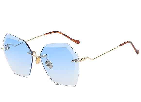 Nools - Blue RL Silhouette Vintage Sunglasses