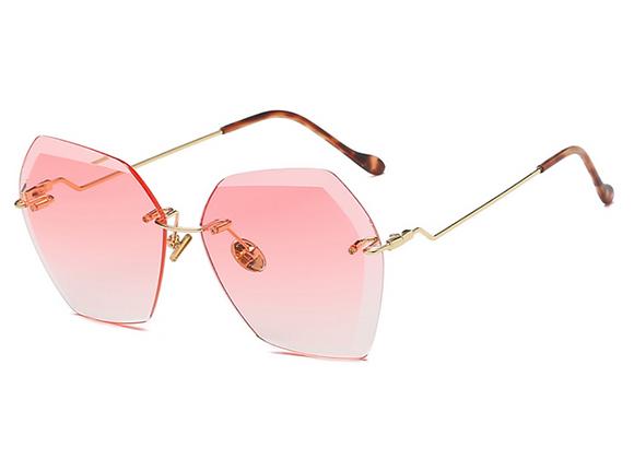 Nools - Pink RL Silhouette Vintage Sunglasses
