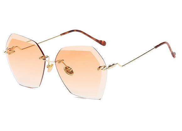 Nools - Brown RL Silhouette Vintage Sunglasses