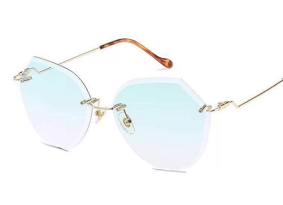 Nools -  Light Green RL Silhouette Vintage Sunglasses