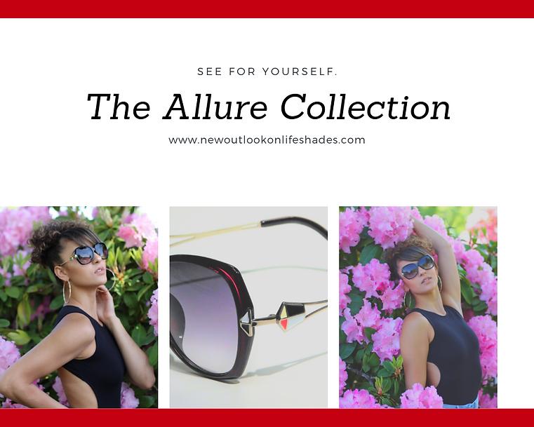 NewOutlookOnLifeShades. Model wearing her alure sunglasses.