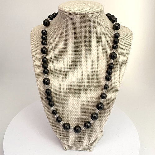 Necklace 12, 10 and 8mm Shungite Beads 55cm