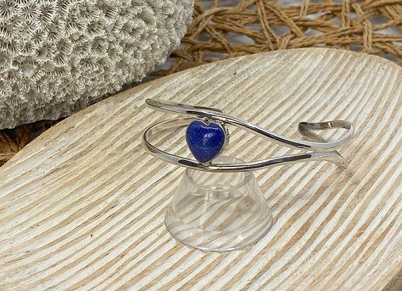 Lapis Lazuli Heart Bangle