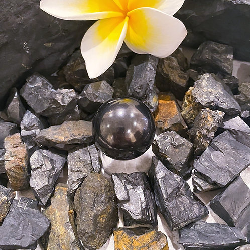 Polished Shungite Sphere 30mm