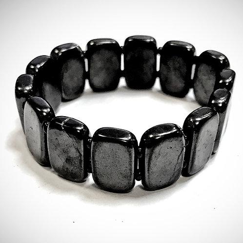 Flat Shungite Bracelet approx. 19cm