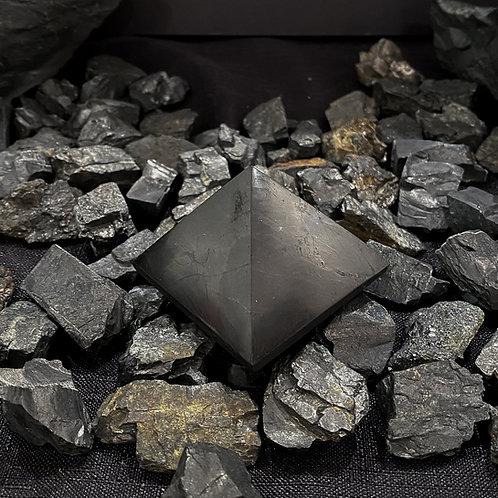 Polished Shungite Pyramid 50mm