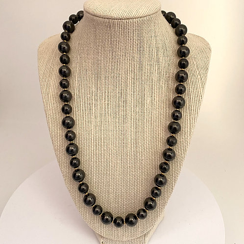 Necklace 12mm and 10mm Shungite Beads 54cm