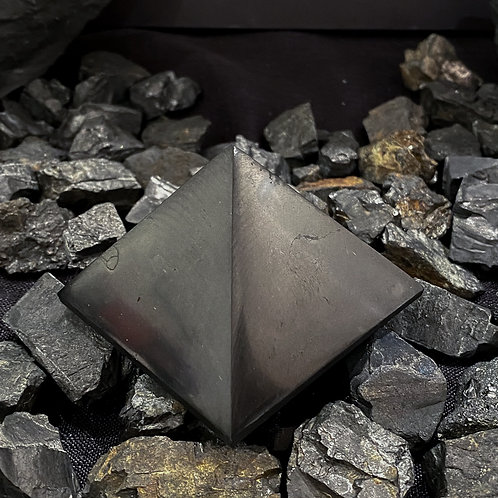 Polished Shungite Pyramid 60mm