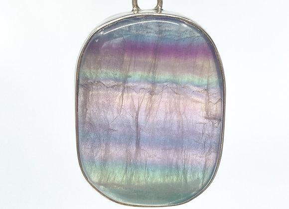 Rainbow Fluorite Oval Pendant