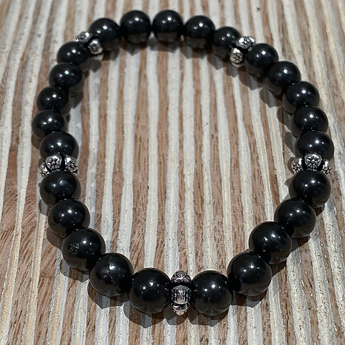 SHUNGITE BRACELET 8MM BEADS