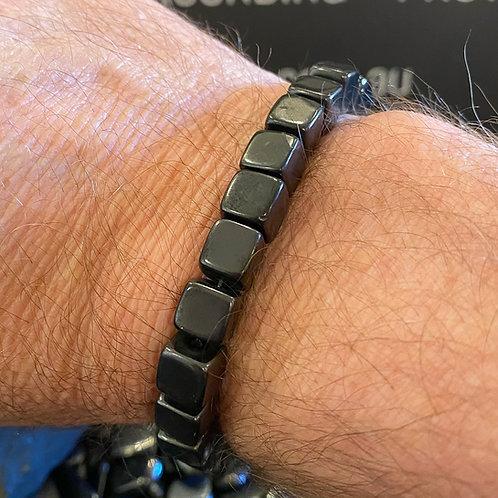 Shungite Bracelet  Cube - 8mm beads