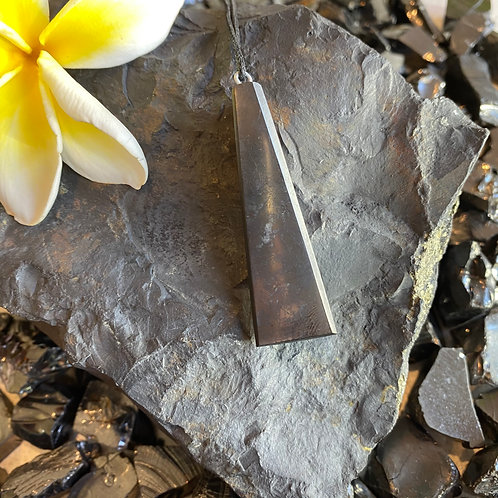 Wedge Shungite Pendant