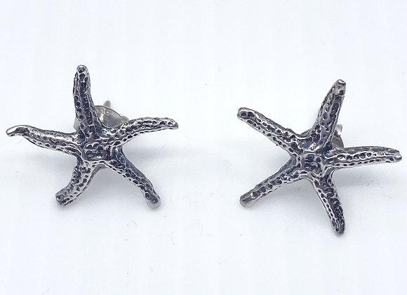 Starfish Studs Sterling Silver Earrings