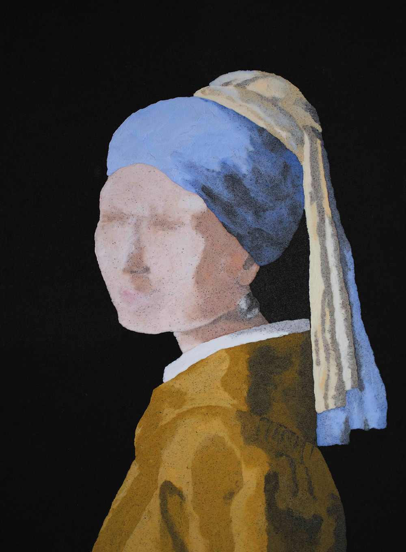 ispirato alla Ragazza con l'orecchino di perla di Jan Vermeer