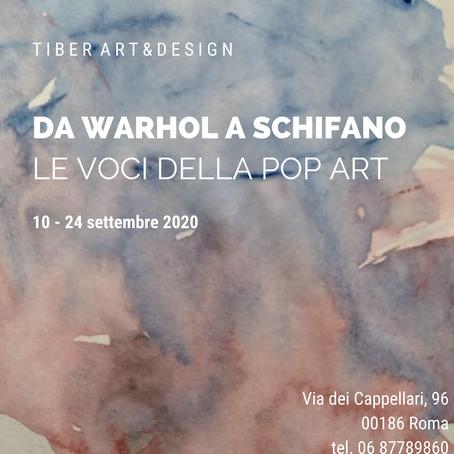 Da Warhol a Schifano: le voci della Pop Art in Mostra dal 10 al 24 settembre