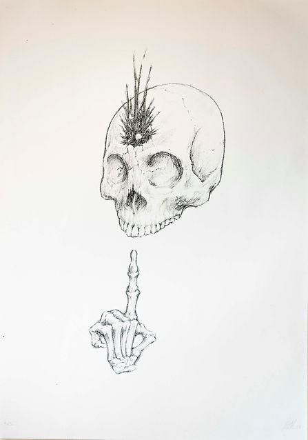 i morti non parlano, 48x35.6 cm, litogra