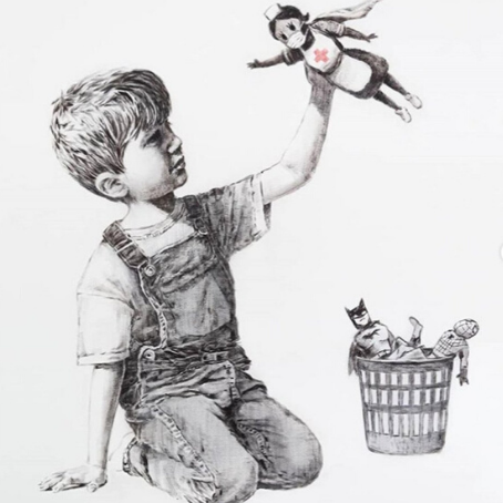 L'omaggio di Banksy a medici e infermieri