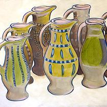 medieval jugs, painting