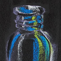 water bottle, drawing