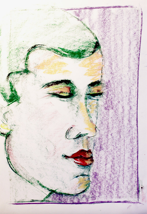 bernice davies, soft pastels, contemporary art, life drawing, figure drawing, contemporary drawing