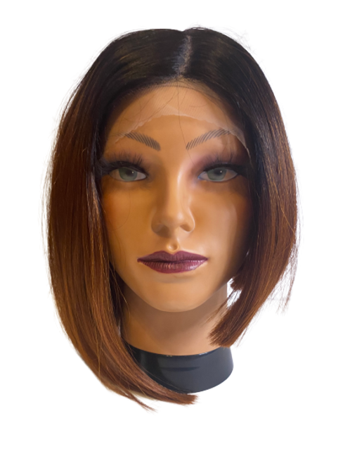 Synthetic Lace Wigs - Black to Brown Ombre