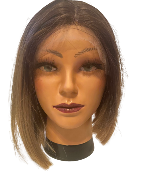Synthetic Lace Wigs - Black to Ash Blonde/Brown Ombre